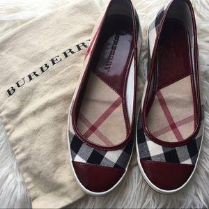 Authentic Burberry Cranberry Flats- Size 39